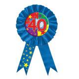 """Rosette anniversaire """"40 ans"""" 15 cm"""