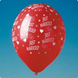 "5 ballons rouges ""Just Married"""