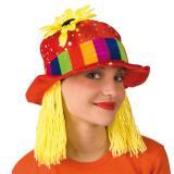 """Chapeau de clown """"Tournesol & cheveux jaunes"""""""