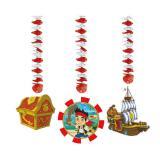 """Décos de plafond rotor """"Jake & les Pirates du Pays imaginaire"""" 3 pcs"""