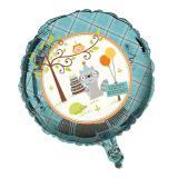 """Ballon en alu rond """"Anniversaire en campagne"""" 45 cm"""