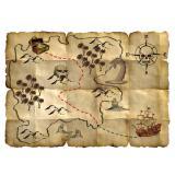 """4 cartes au trésor """"Pirates sauvages"""""""