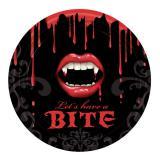 """8 assiettes en carton macabre """"Baiser du vampire"""""""