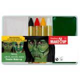 """Set de maquillage vert """"Sorcière"""" 6 pcs"""