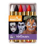 "Crayons à maquillage ""Halloween"" 6 pcs"