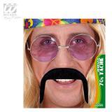 """Moustache noire autocollante """"Années 70"""""""