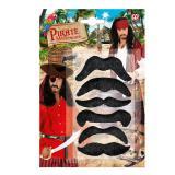 6 moustaches autocollantes