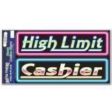 """Panneaux autocollants """"Casino"""" fluo 52 cm 2 pcs"""