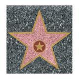 """Déco de salle autocollante """"Walk of Fame"""" 29,5 cm"""