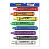 """Décos murales autocollantes """"Crayons de couleur"""" 8 pcs"""