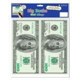 "Déco murale autocollante ""One Hundred Dollars"" 2 pcs"