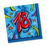 """20 serviettes """"Enfin 18 ans"""""""