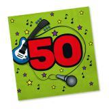 """20 serviettes """"50 ans en musique"""""""