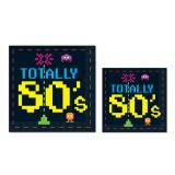 "16 serviettes ""Totally 80's"""
