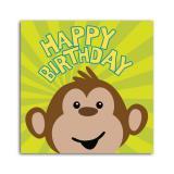 """16 serviettes Happy Birthday """"Singes en folie"""""""