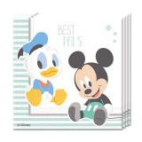 "20 serviettes ""Baby Mickey & Donald"""