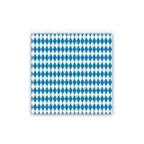 """16 serviettes """"Losanges de Bavière"""" 32 x 32 cm"""
