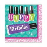 "16 serviettes ""Beauty Accessoires"" Happy Birthday"