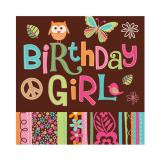 "16 serviettes ""Birthday Girl"""