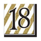 "16 serviettes ""Black & Gold 18"""
