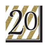 "16 serviettes ""Black & Gold 20"""