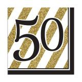 "16 serviettes ""Black & Gold 50"""