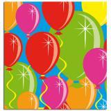 """20 serviettes en papier """"Ballons multicolores"""" 25 cm"""