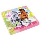 "20 serviettes ""Charming Horses"""