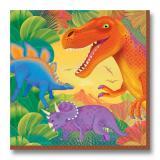 """16 Serviettes """"Monde des dinosaures"""""""