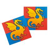 "12 Serviettes ""Coeur de dragon"""