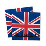 "20 serviettes ""Grande Bretagne"""