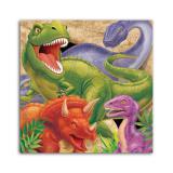 """16 serviettes """"Dangereux dinosaures"""""""