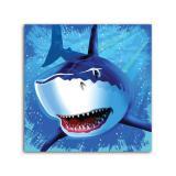 """16 serviettes """"Attention requins en vue !"""""""