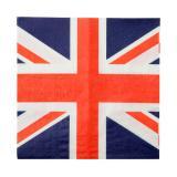 """20 serviettes """"Union Jack"""""""