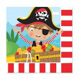 "16 serviettes ""Petit pirate courageux"""