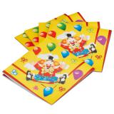 "20 serviettes ""Clown rigolo"""