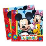 "20 serviettes ""Le club de Mickey Mouse"""