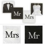 "20 serviettes ""Mr & Mrs"""