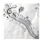 """20 serviettes """"Fête musicale"""""""