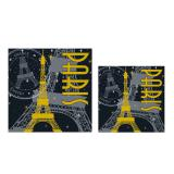 "16 serviettes ""Paris by night"""