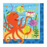 """16 serviettes """"Amis des océans"""""""