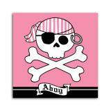 """16 serviettes """"Voyage de pirate"""" fille"""