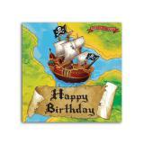 """16 serviettes en papier """"Voyage de pirate"""""""
