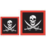 """16 serviettes """"Sabres de pirate"""""""