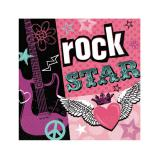 "16 serviettes ""Rock star"""