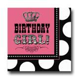"16 serviettes ""Birthday girl on the rocks"""