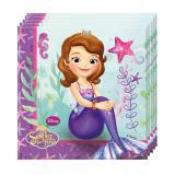 """20 serviettes """"Princesse Sofia - perle des océans"""""""