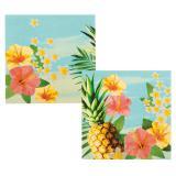 """12 Serviettes """"Hibiscus estival"""""""