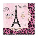 """16 serviettes """"La ville de l'amour"""""""