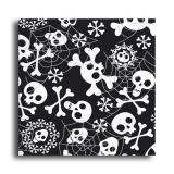 """20 serviettes en papier """"Pluie de squelettes"""""""